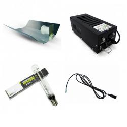 Kit éclairage 400W ETI Réflecteur Martelé HPS Ortica