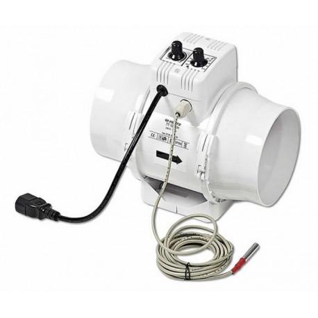 Vents extracteur d'air U.N TT 125mm variateur thermostat 280m3