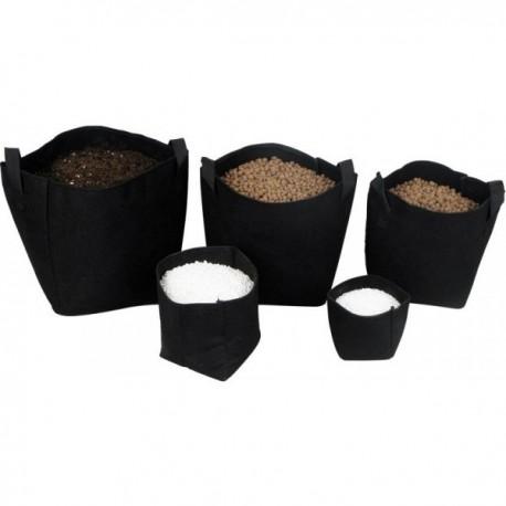 Pot géotextile 3 litres noir Texpot