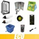 Pack kit complet ECO CFL 200W Croissance Floraison BOX 80x80x160cm