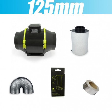 Pack extracteur tt 100 mm filtre à charbon