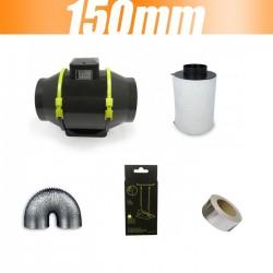Pack extracteur TT MAX 520m3/h 150 mm avec filtre à charbon Proactiv