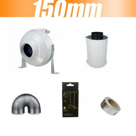 Pack extracteur VK Vents 460m3/ 150 mm avec filtre à charbon Proactiv