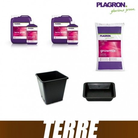 Pack Terre Plagron GrowMix 50L Terra Bloom Terra Grow