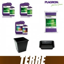 Pack Terre Plagron RoyalMix 50L Alga Grow Alga Bloom Green sensation