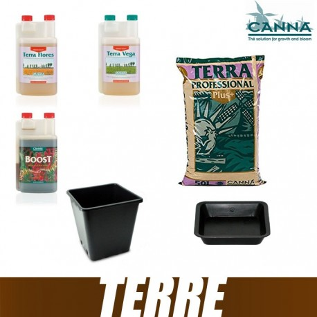 Pack Terre Canna PRO PLUS Terra Vega Terra Flores CannaBoost