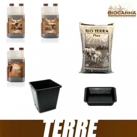 Pack Terre BioCanna BioVega BioFlores BioBoost