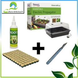 Pack bouturage serre 22W root it cube laine de roche